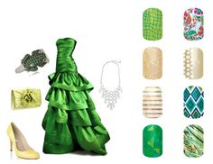 Tiana, The Princess and the Frog Disney inspired Jamberry nail wraps www.ashleylipke.jamberrynails.net