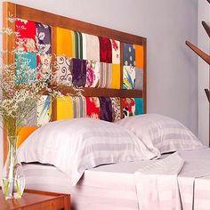 Cabeceiras de cama - Cabeceiras de Patchwork - Cabeceira de Patchwork Criativa