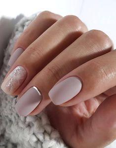 35 simple ideas for wedding nails design # wedding nails - 35 simple ideas for wedding nail design # Wedding nails – – # Wedding nails - Simple Wedding Nails, Wedding Nails Design, Wedding Manicure, Mauve Nails, Pink Nails, Hair And Nails, My Nails, Nagellack Design, Bridal Nails