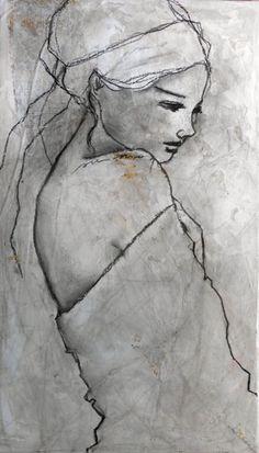38 ideas for painting acrylic facial drawings - art - facial drawings . - 38 ideas for painting acrylic face drawings – art – - Painting People, Figure Painting, Painting & Drawing, Fine Art Drawing, Pour Painting, Abstract Portrait, Portrait Art, Abstract Art, Woman Portrait