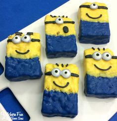 Minion Rice Krispies Treats | fun kids treats | Despicable Me #ricekrispietreats #minions