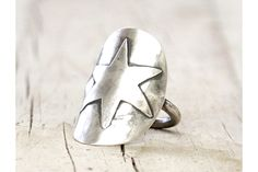 Whole and unique Spoon Rings made to enhance the beauty of the originalI have a passion (bordering on obsession!) for vintage silverware and other found trea. Silverware Jewelry, Spoon Jewelry, Spoon Rings, Silver Spoons, Silver Stars, Stars And Moon, Vintage Rings, Gemstone Rings, Bright
