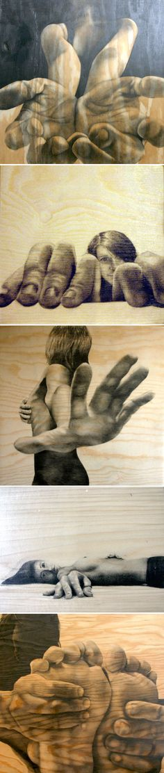 FORESHORTENING! And drawing on wood