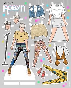 Print Out Vulture's Robyn Paper Doll -- Vulture