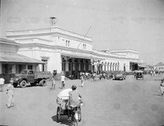 Straatbeeld van Surabaya, Indonesië (1950)