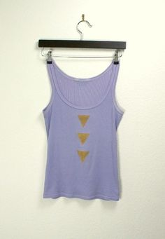 Lavender purple tank with hand painted golden arrows  by Bartinki, $32.00