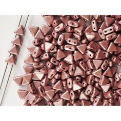 http://www.scarabeads.com/Glass-BEADS/Kheops-par-Puca/Metallic-Mat/50pcs-Kheops-par-Puca-6mm-2-hole-Czech-Glass-Pressed-Beads-Metallic-Mat-Pink