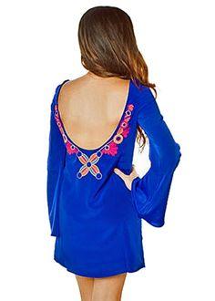 Royal Blue Scoop Back Dress