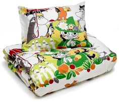 Moomin Pillowcase Duvet Cover Bed Set 120 x 160 / 40 x 60 cm Park Finlayson