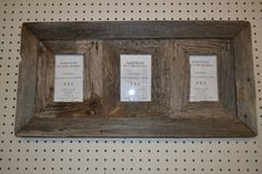 4 X 6 3 Place Collage Barn Wood Picture Frame by KAGAC on Etsy