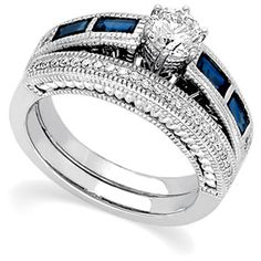 engagment rings with sapphire  | Luxury Blue Sapphire Wedding Rings | Miracle Wedding Rings