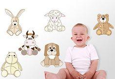 Stuffed Animal Zoo Wall Sticker Set - Great Nursery Animals