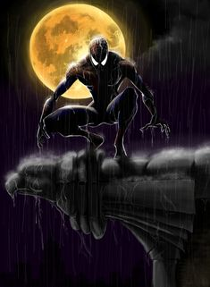 Spiderman by Jordan Rhodes via DeviantArt Black Spiderman, Spiderman Art, Amazing Spiderman, Deadpool Deathstroke, Hq Marvel, Marvel Comics Art, Marvel Heroes, Spider Men, Avengers