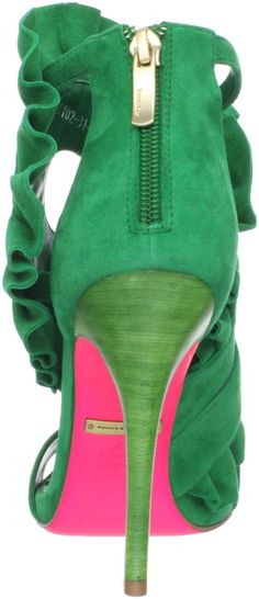 Suecomaa Bonnie green heels with pink bottoms. I need these ASAP!