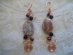 natural polished stones and copper