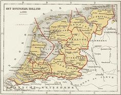 Koninkrijk Holland European History, World History, Early World Maps, Holland Map, Kingdom Of The Netherlands, Classical Antiquity, Historical Maps, Old Maps, In Ancient Times
