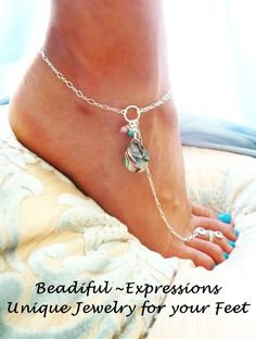 Barefoot Sandals Sterling Silver Abalone by beadifulexpressions - LoveItSoMuch.com