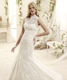 ad7704d48d42 Wedding Dress Colet Evaleigh COAB15323IV 2015 Col Ras Du Cou