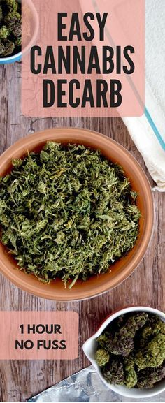 An easy way to decarboxylate cannabis for more potent edibles from Wake & Bake: a cookbook.