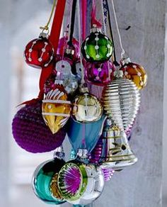 must admit I've got a weakness for colourful glass baubles
