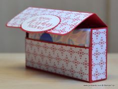 Earlier this morning I uploaded my video which shows how to make this super quick and ea Hello, Crafters. Earlier this morning I uploaded my video which shows how to make this super quick and easy Handbag Tissues' Box. Tissue Box Covers, Tissue Boxes, Paper Boxes, Tissue Box Holder, Fancy Fold Cards, Folded Cards, Origami Templates, Box Templates, Scrapbook Box