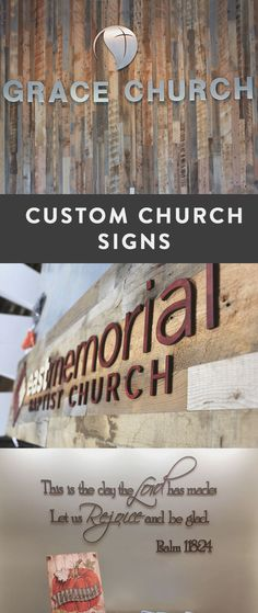 Custom church signs made custom per order. See how our customers installed their own church signs with professional results. Church Lobby, Church Foyer, Church Interior Design, Church Stage Design, Church Nursery Decor, Church Welcome Center, Modern Church, Church Signs, Church Building