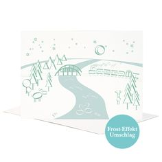 Greeting card with typography landscape