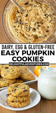 A must-make fall recipe to add to your list is this one, for easy gluten free pumpkin chocolate chip cookies! Not only are they the best, they're also vegan AND gluten-free, making them dairy free, wheat-free and egg free! They're soft on the inside with a bit of crispiness on the outside, plus, they're packed with warm pumpkin spices and loaded with chocolate chips. Add these gf pumpkin cookies to your list of tasty vegan pumpkin recipes to make for family and friends this year.