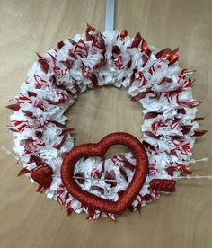 16 Cupid Heart Wreath by PensPreciousTreasure on Etsy