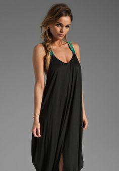 MARA HOFFMAN Beaded Feather Dress in Black at Revolve Clothing - Free Shipping!