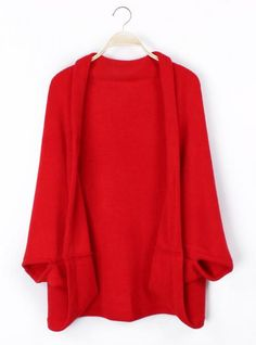 Cape Cardigan Sweater Red