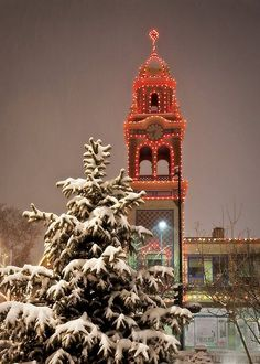 Christmas in KC, the lights on the Country Club Plaza.  One of my favorite childhood memories