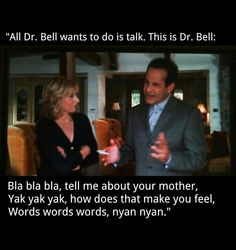 Love Monk- the funny thing is that we all know how he really loves dr. bell with his whole heart