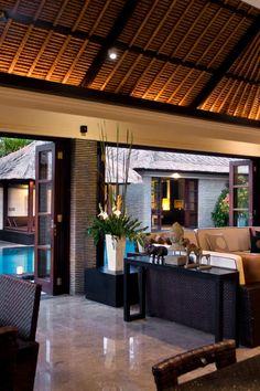 Peppers Seminyak - Seminyak, Indonesia - Living/dining rooms overlook enormous private pools surrounded by teak decks.