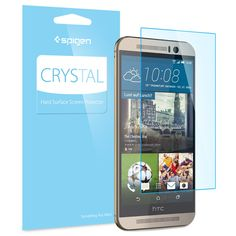 Preserve the beauty and performance of your screen with our Crystal Screen Protector for the HTC One M9. Its intensely transparent visibility guards your screen with high quality PET film. Precise cut-outs maintain functionality of the earpiece, camera, and sensors while wholly shielding the screen for protection that's out of sight and out of mind.  Shop Now: http://www.spigen.com/products/htc-one-m9-screen-protector-crystal