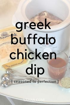 Throw all these ingredients in the crockpot and enjoy! Greek Chicken Recipes, Chicken Dips, Greek Recipes, Cavenders Greek Seasoning, Greek Spices, Easy Pasta Salad Recipe, Greek Salad Pasta, Greek Cooking