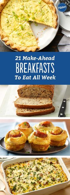 21 Make-Ahead Breakfasts to Eat All Week: Cook once, eat twice. Or three or four times even, with these simple make-ahead breakfasts.
