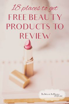 Great list of places to get free product to review on your blog