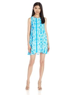Lucca Couture Women's Printed Sleeveless Swing Dress