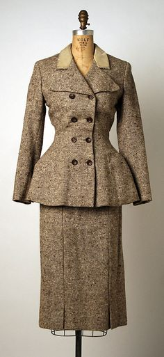 Suit Sybil Connolly  Date: 1950s Culture: Irish Medium: wool, silk