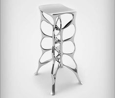 modern bar stools stolworthy - Ultra-modern bar stools 'Intrigue' and 'Serous' by Las Vegas-based designer Michael Stolworthy are fantastic examples of fluid ...
