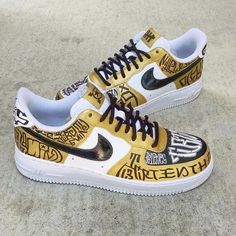 Custom Sneakers, Custom Shoes, Boys Shoes, Me Too Shoes, Nike World, Air Max Sneakers, Sneakers Nike, Nike Air Force 1, Exclusive Shoes