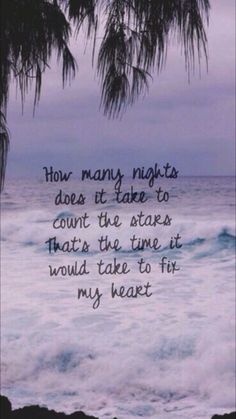 How many nights does it take to count the stars / That's the time it would take to fix my heart... Infinity~One Direction