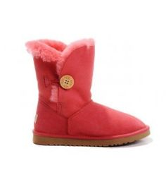 UGG Kids Bailey Button Boots Red  5991 T Online Sale Kids Ugg Boots, Snow Boots, Ugg Kids, Uggs For Cheap, Ugg Bailey Button, Red, Bags, Free Shipping, Shoes