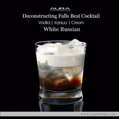 Creamy, sweet, delicious and secretly potent- The White Russian brings it all together!