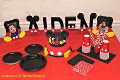 Mickey Mouse Birthday Party Ideas at www.oohanissa.com