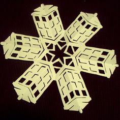 Doctor Who snowflakes :) Pretty impressive.