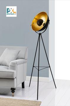 Stojaca lampa »Angers« HT191028 čierna E27 158 cm. Táto štýlová stojaca lampa »Angers« značky [lux.pro] na trojnožke má nie len industriálny dizajn, ale ponúka aj efektívne a štýlové osvetlenie. #premiumXL #osvetlenie #dizajn #štýl #bývanie Ottawa, Lighting, Home Decor, Decoration Home, Room Decor, Lights, Home Interior Design, Lightning, Home Decoration