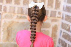 Pull-Through Braid | Cute Braids, do like Isabelle had against head
