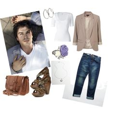Casual Dress inspired by Damon Salvatore   I forgot I had created this out on Polyvore and posted to my webpage